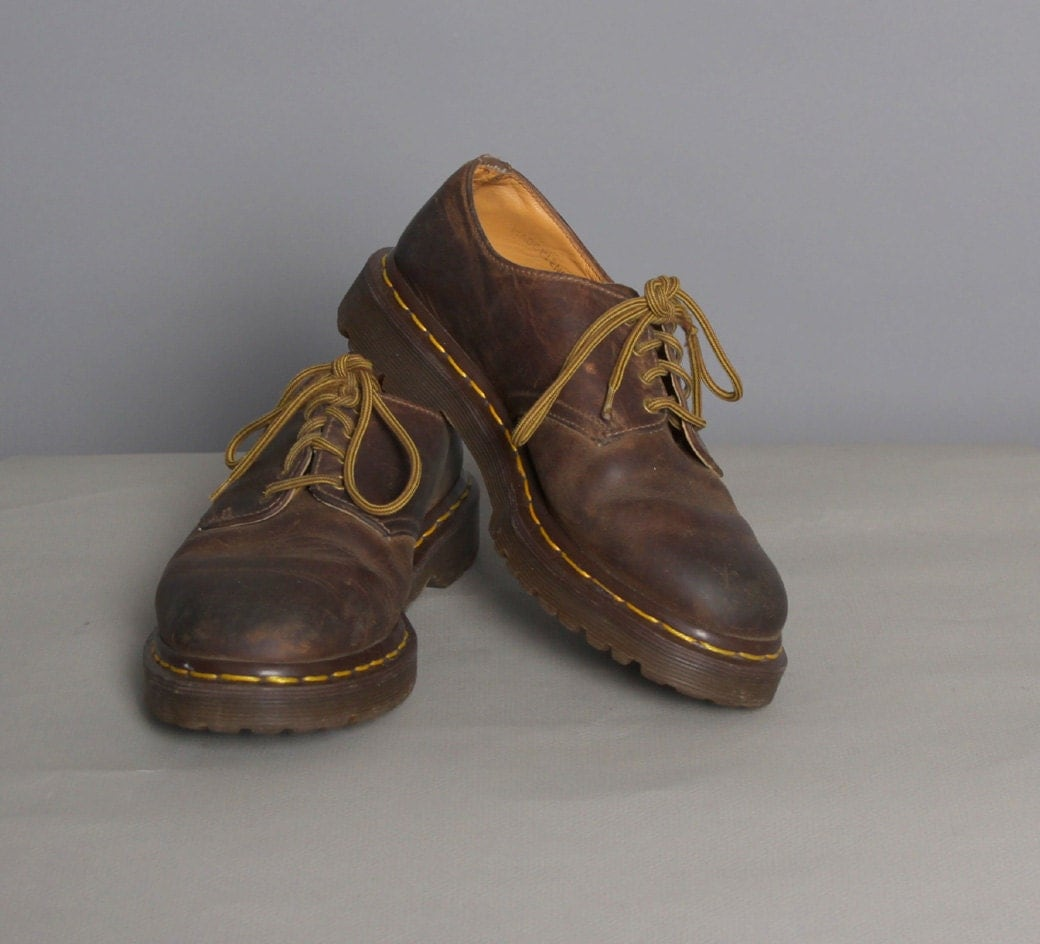 Vintage 80s Doc Martens Brown Gibson Oxfords 7 5 8