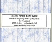 6 Yards Handmade 1/2 Inch Double Fold Bias Tape  - Seasonal Magic in Blue