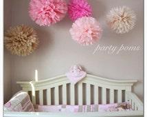 CHERRY BLOSSOM tissue paper pom poms.. nursery decor / party decoration / weddings