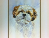 Reserve for Diane, Custom, Original 11x14 inch Watercolor Dog Portrait