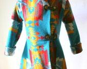 Reserved For Crankm  - Custom Wool Navajo Blanket Coat First Deposit