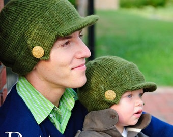 make your own Salute Hat (DIGITAL KNITTING PATTERN) baby toddler child tween teen adult