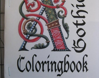 A Gothic Alphabet coloring book