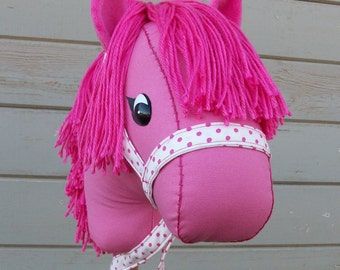 "MADE TO ORDER Classic Collection ""Punky Pink"" Stick Horse or Pony Ready to Ride"