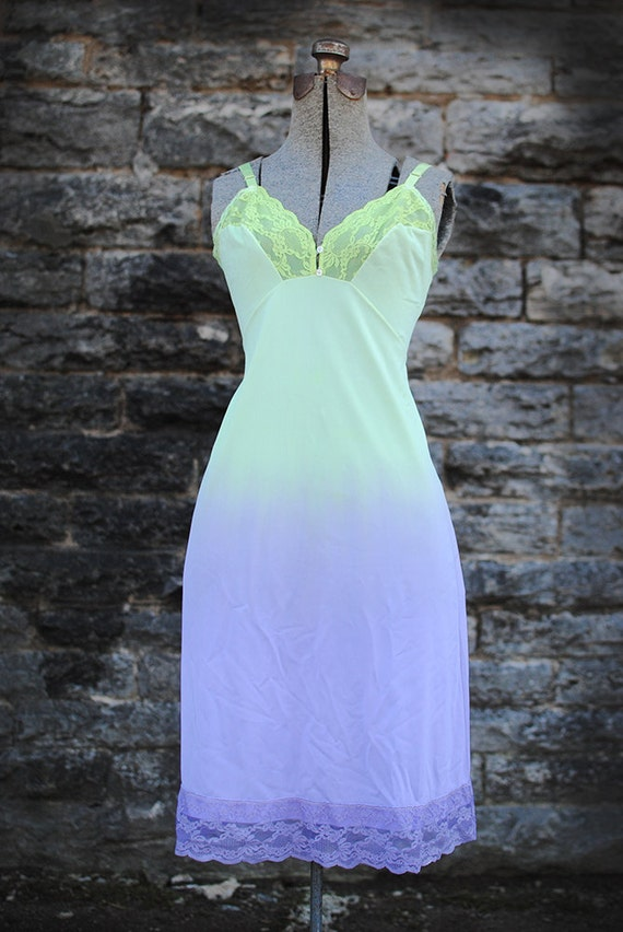 Early Spring Ombre Vintage Slip Dress