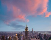New York photograph, Nyc Skyline photo Sunset Manhattan Empire State Building Sunrise Fine Art Wall Home Decor nyc43