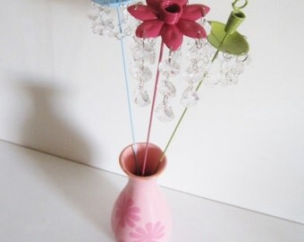 Spring is Here Candle Chandelier Flower Garden Stakes