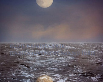 MOON WATERS Abstract Original Art Color Photograph