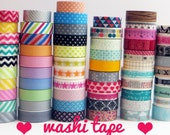 WASHI TAPE 1 yard samples - choose your patterns - 10 yards total