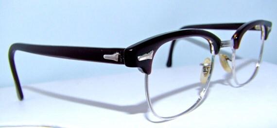 Art craft dark wine coloured mens vintage eyeglasses 140 for Art craft eyeglasses vintage