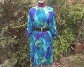 RESERVED for jeanlovely Tent Dress Trapeze Dress Psychedelic Dress Mod Op Art Dress Zipper Front Dress Muu Muu Beach Cover Up Open Size