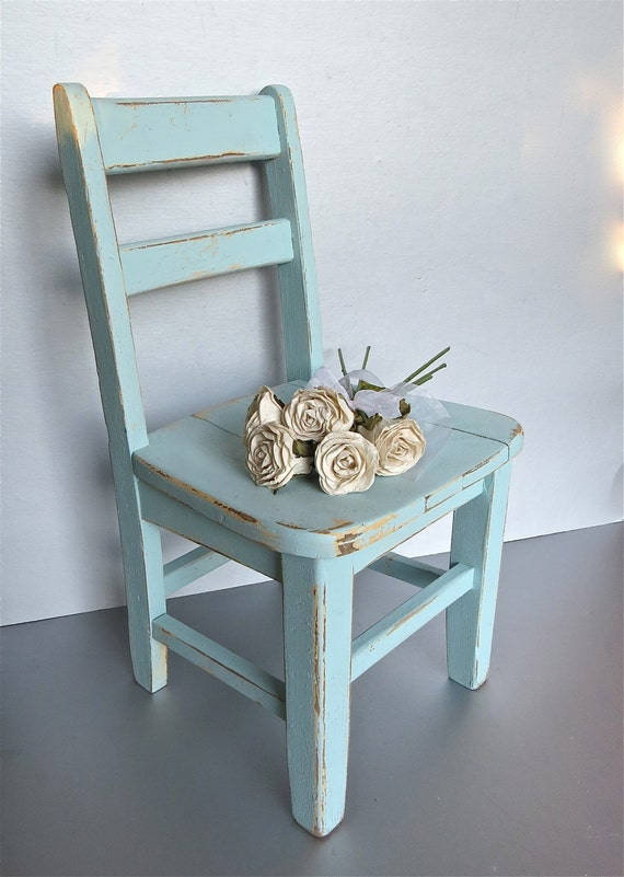 Vintage child 39 s chair blue chair old chair rustic for Small blue armchair