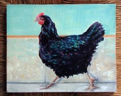 """original Oil Painting by puci, 8x10"""", Henny Penny"""