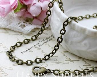10pcs Antique Bronze Long Chain Necklace (CD03)