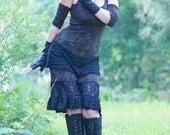 Steampunk Bloomers - Knickers - Pantaloons - Wide Leg Knickers - Bohemian Gypsy Leggings - Brown - Handmade Designs - Size Medium