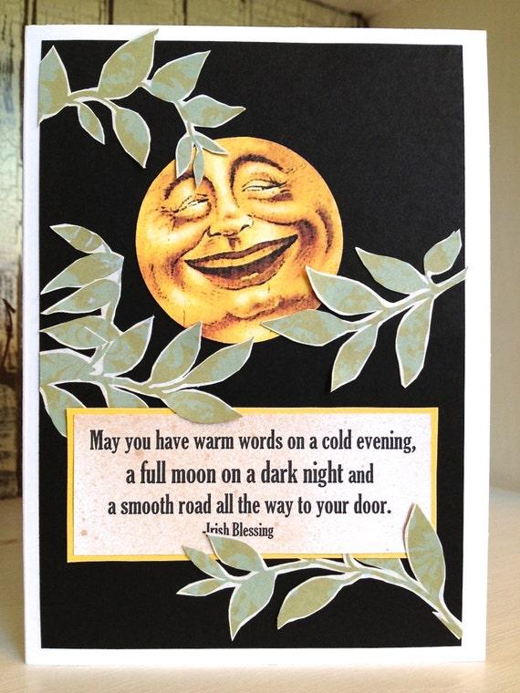 Full Moon Cards Full Moon Blessing Card