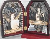 Shadow Box Shrine - Vampire Art - Gothic Romance