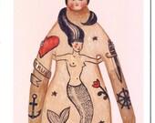 Greeting card - Tattoo Sailor in Love