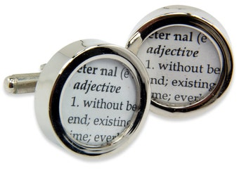 Definition of ETERNAL- Love - Wedding Cuff links by Gwen DELICIOUS Jewelry Design