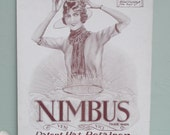 Vintage Store Display Card 20s 30s Millinery Shop Advertisement Nimbus Hat Retainer 1920s 1930s antique store large advert sign