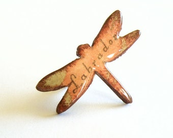 Wooden Dragonfly Ring - LABRADOR