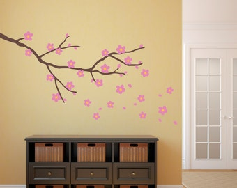 Cherry Blossom Decal   Branch With Flowers Wall Art   Flower Decor   Large