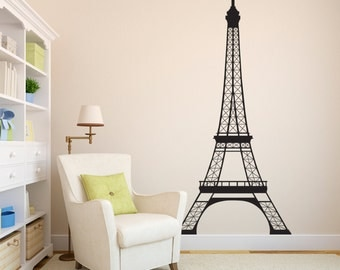 Eiffel Tower Wall Decal - 7 feet high decal - Paris Wall Decor