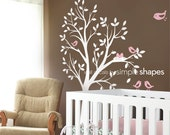 Tree Wall Decal - THE ORIGINAL - Tree with birds and nest for Baby Nursery