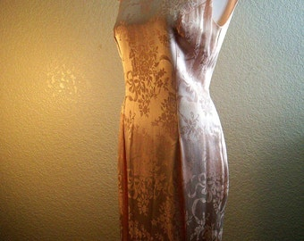 vintage gorgeous plunging  back  JESSICA MCCLINTOCK pink dress with capped sleeves