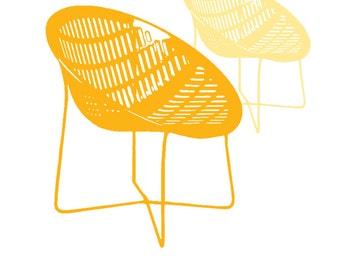 carococo / vintage chair 8x10  / illustration by Carol-Anne Pedneault