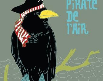 Carococo illustration by Carol-Anne Pedneault / Pirate de l'air/  12x12