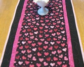 Quilted Valentine Hearts Table Runner