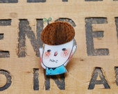The Eco Guy - Handmade Shrink Plastic Brooch or Magnet - Wearable Art - Made to Order