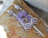 Alice's Garden Key Necklace