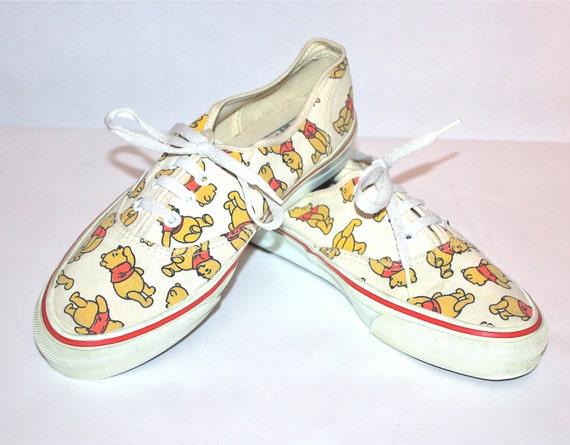 Vintage Winnie the Pooh VANS Sneakers Punk Skate Tennis Shoes Size 10
