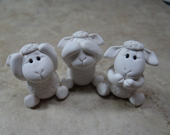 Hear no evil See no evil Speak no evil Sheep Set
