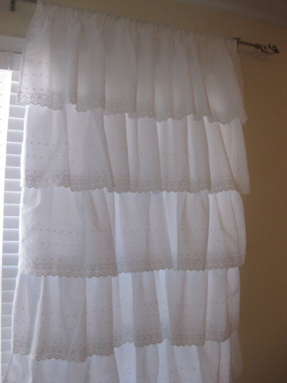 Ruffle Curtain White Eyelet Ruffle Ready To By