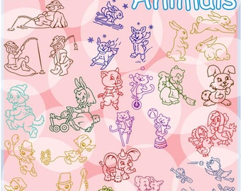 Whimsical Animals Vector Clipart