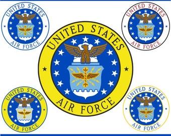 Digital Clipart U.S. Air Force Emblem (5) PNG