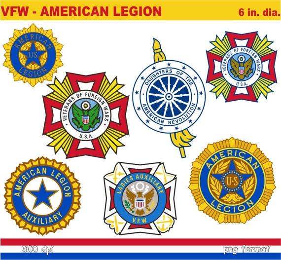 Military American Legion Flag Emblem Autos Post