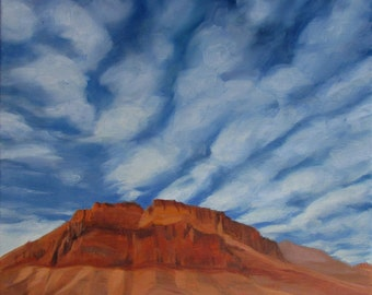 "Red Mountain 18"" x 24"" Original Oil Painting"
