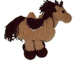 Brown Horse Purse - amydscrochet