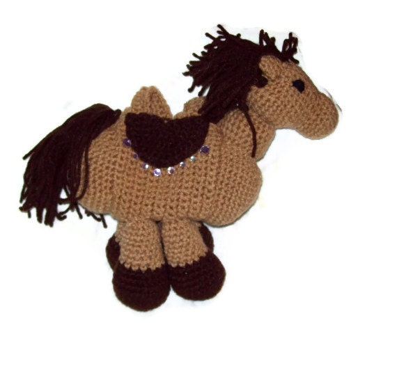 Brown Horse Purse Girls Toy Purse