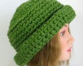 Green Womens Hat Cloche Derby Hat Ready to Ship Custom Order Pick your Color