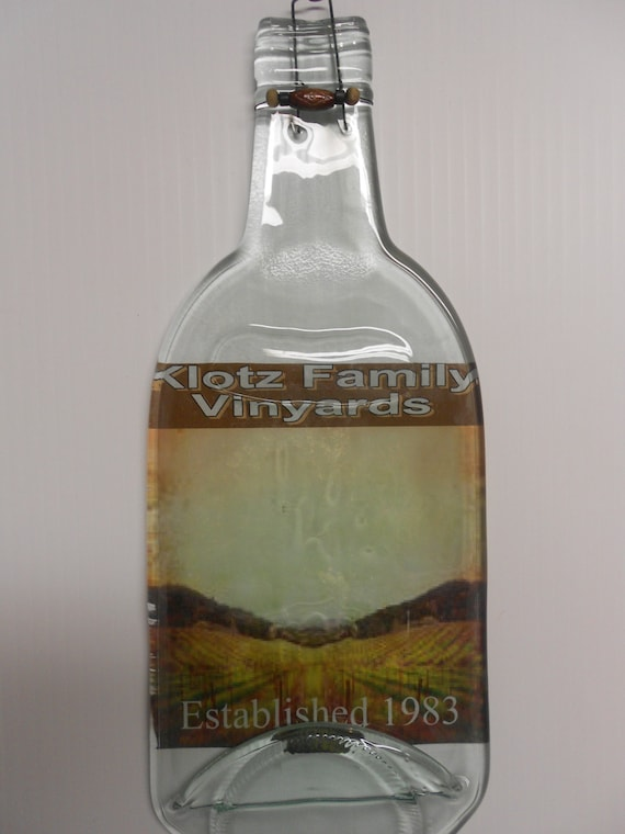 Personalized Wine Bottles For Wedding Gift : Items similar to Wedding gift / Personalized melted wine bottle cheese ...