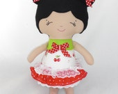 Custom Handmade Small doll, little sister doll, cloth doll Made to order