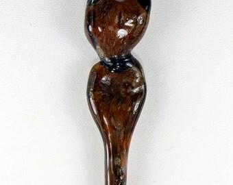 Goddess Silhouette Lampwork Glass Pendant Necklace
