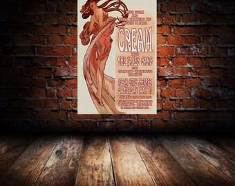 Cream / James Gang 1968 Cleveland Concert Poster