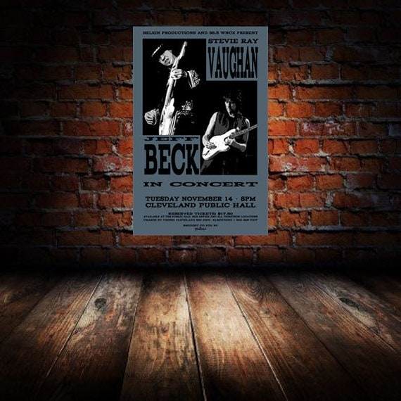 stevie ray vaughan jeff beck 1989 cleveland by rawsugarartstudio. Black Bedroom Furniture Sets. Home Design Ideas