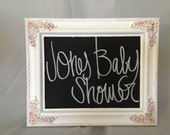 Medium Vintage/ Shabby Chic Chalkboard Frame 11x9